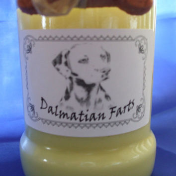 Dalmatian Farts Candle in a Recycled Liquor Bottle - 10oz