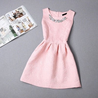 Summer New 2016 Elegant women Casual Dress Short Evening Party Chrismas Holiday Dresses vestidos Women White Dress