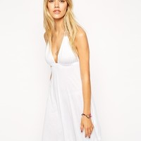 ASOS Halter Jersey Mini Beach Dress