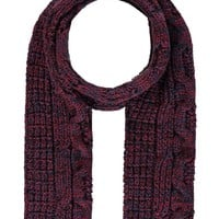 Marled Cable Knit Scarf