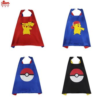 SPECIAL L 27* Pikachu  Costume Cape Mask Anime Character Pikachu Birthday Party Cartoon Cosplay Toys Red Christmas CapeKawaii Pokemon go  AT_89_9