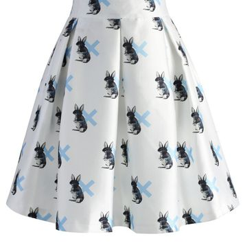 My Bunny Pleated Skirt in White