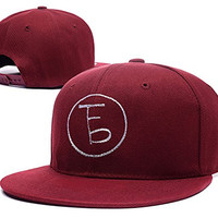 RHXING The Front Bottoms Logo Adjustable Snapback Embroidery Hats Caps - Red