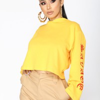 Savage Beauty Long Sleeve Top - Yellow