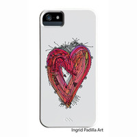 Whimsical Heart iPhone Case, iPhone 5 case, iPhone 5C case, Funky, Abstract, Art, iPhone cases, by Ingrid Padilla, iPhone 5S case