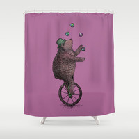 The Juggler Shower Curtain by Eric Fan