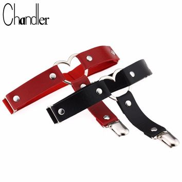 Chandler Sexy Heart Love Leg Necklace Belt For Women Punk Gothic PU Leather Pastel Gothic Harness Garter Stockings Harajuku Gift