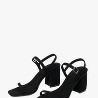 Low Heel Suede Sandals