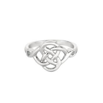 Ring, Celtic with Rhodium plated.