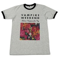 Vampire Weekend floral indie punk rock music T-Shirt / GV58.4 size M