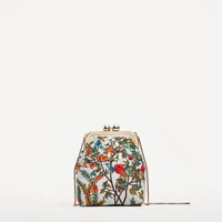 MINI EMBROIDERED CROSSBODY BAG WITH CLASP DETAILS