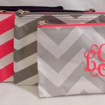 Monogrammed Makeup Bag  Monogrammed Bag  Monogrammed Pouch