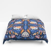 Bright Boho Style Comforters by noondaydesign