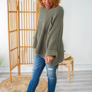 See Me Here Sweater - Taupe