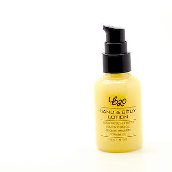 B20 Hand and Body Lotion. Orange Blossom. Shea Butter. Natural Scented. No Fragrance or Essential Oil.