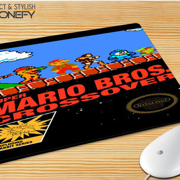 Super Mario Bros Crossover Mousepad Mouse Pad|iPhonefy