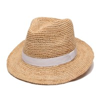 ále by Alessandra Hat | Beach Chic Fedora Hat with White Ribbon| SolEscapes.com