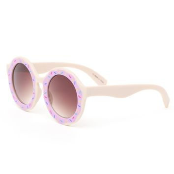 With Love From CA Donut Round Sunglasses - Womens Sunglasses - Multi - One