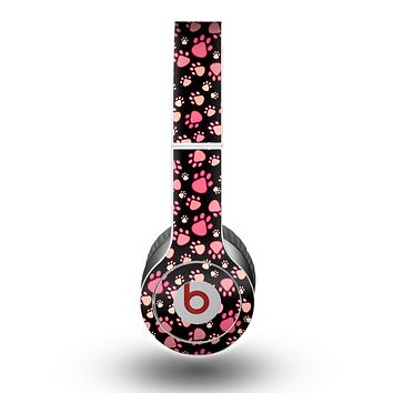 The Cut Pink Paw Prints Skin for the Beats by Dre Original Solo-Solo HD Headphones
