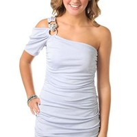 One Shoulder All Over Glitter Tight Club Dress