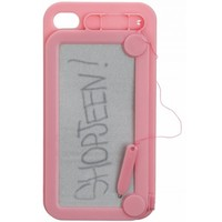 LIGHT PINK MAGNETIC DOODLE IPHONE 4/4S + 5 CASE. - TECH