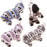 Dog Puppy Cute Warm Winter Soft Sweater Hoodie Jumpsuit Coat Clothes OutwearHU