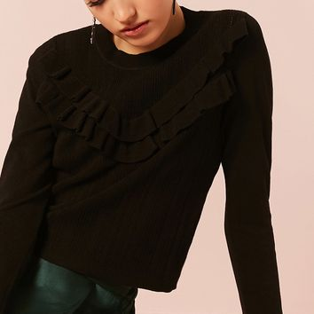 Boxy Ruffled Sweater