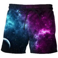 Blue & Purple Orbit Swim Shorts
