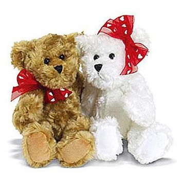 Plush - Tabitha & Travis Pair of Teddy Bears
