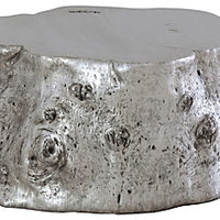 Log Cocktail Table, Silver