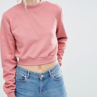 ASOS PETITE High Neck Crop Sweat Co-ord