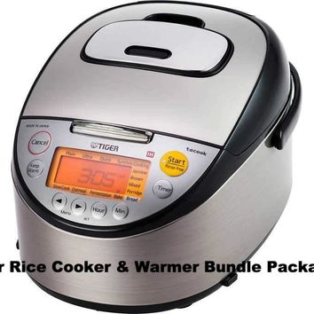 Tiger Induction Heating Rice Cooker & Warmer Bundle