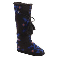 Women's MUK LUKS® Grace Tribal Motif Slipper Boot - Black