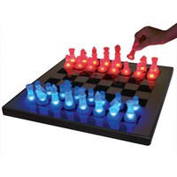 LED Glow Blue and Red Chess Set - #K9051   LampsPlus.com