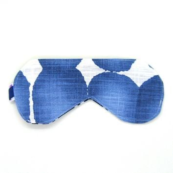 Sleeping Eye Mask/Night Eye Mask/Travel Eye Mask/Sleep Mask - Indigo Blue Watercolor