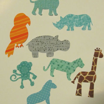 Iron-On Appliques - Jungle Animal Safari Theme - for Baby Shower Craft Kit