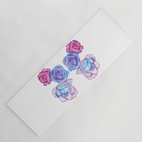 Roses Yoga Mat by drawingsbylam