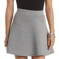 High-Waisted Neoprene Skater Skirt by Charlotte Russe