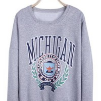 Grey THE UNIVERSITY OF MICHIGAN Sweatshirt S175