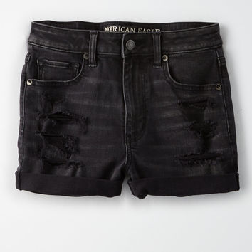 AE Denim X Super High-Waisted Short Short, Black In The Dayz