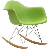 Rocker Lounge Chair Green