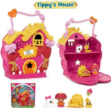 Mini Lalaloopsy Tinies Houses - Tippy' s Hous Set Kids Toys Dolls for Girls Children Christmas Gifts