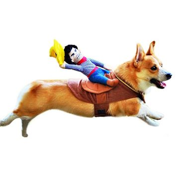 Dog Suit Pet Clothes Dog Clothes Pet Cowboy Horse Riding Clothes Dog Costume Novelty Party Pet Clothing PT0994
