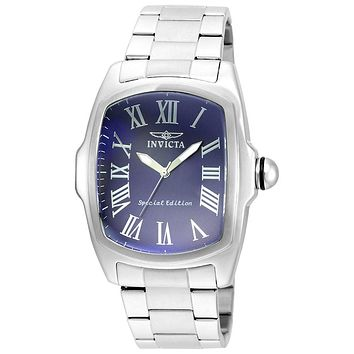 INVICTA Lupah Mens Special Edition - Blue Dial - Stainless Steel - Bracelet