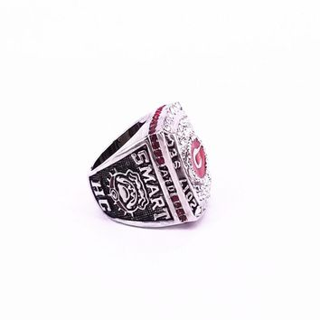 USA size 8 to 15 factory price 2018 hot sale 2017 Georgia Bulldogs championship ring engraving inside display box drop shipping