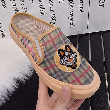 GUCCI  Women Fashion Embroidery Espadrilles Slipper Flats Mules Shoes