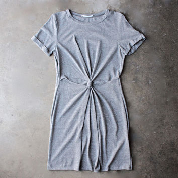 knot it knot-front t-shirt dress