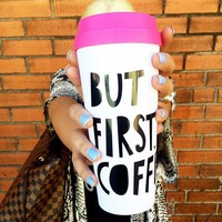 Bando 40735 Hot Stuff Thermal Mug But First Coffee