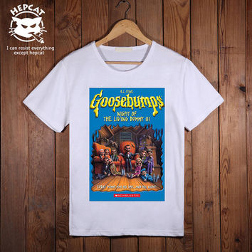 Goosebumps Tshirt, Night of The Living Dummy 3 T-Shirt, Screenprint Custom Tees, Personalized Image Top Tee shirt, Unisex Size S M L XL XXL