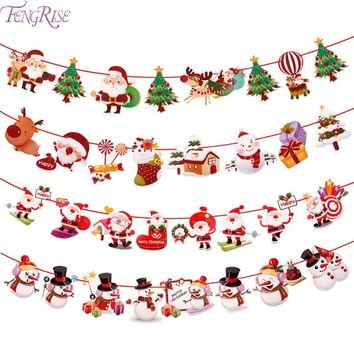 FENGRISE Christmas Banner Wall Hangings Christmas Ornaments Pendant Xmas Ornaments Merry Christmas Decorations for Home